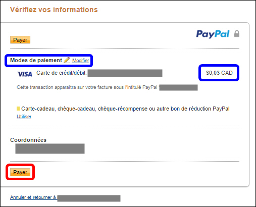Payer PayPal