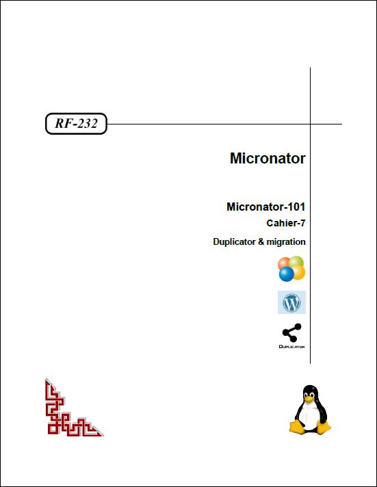 Cahier-7: Duplicator & migration